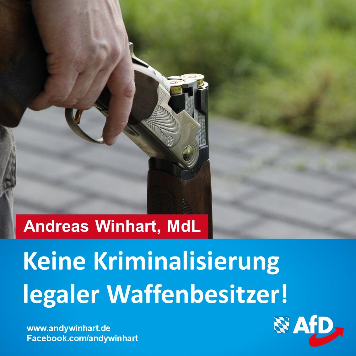 Verschärfung des Waffenrechts: AfD gegen Kriminalisierung rechtstreuer Bürger