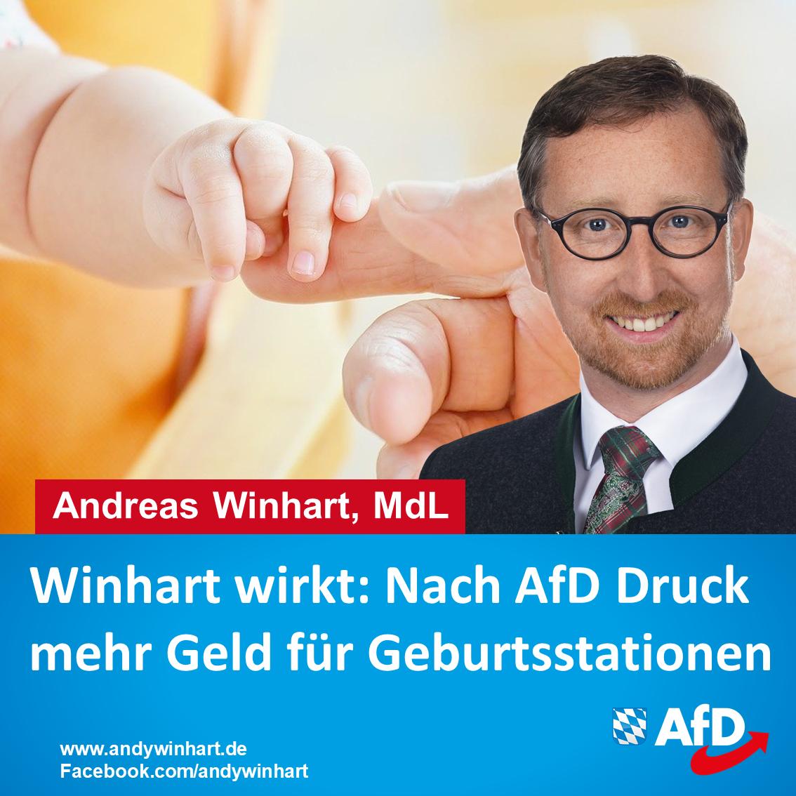 Andreas Winhart MdL begrüßt Förderung für Geburtshilfestationen
