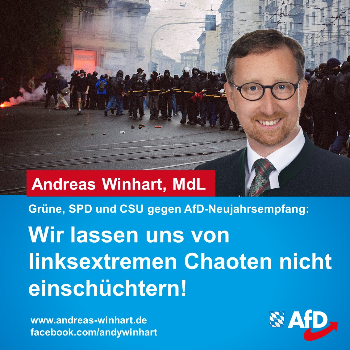 AfD-Neujahrsempfang nach linksextremer Bedrohungslage verlegt
