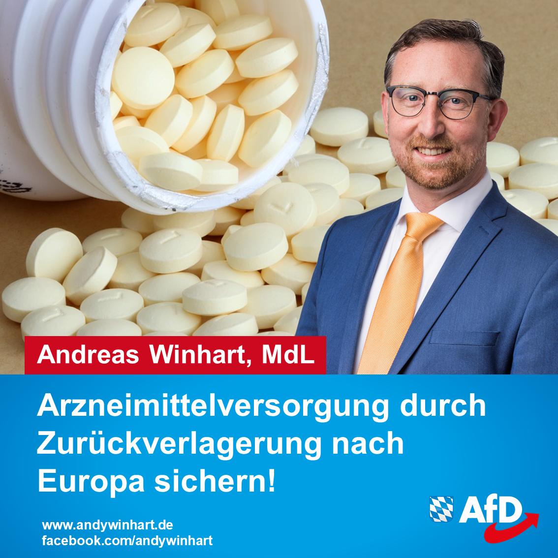AfD-Antrag für Sicherstellung der Arzneimittelversorgung in Bayern