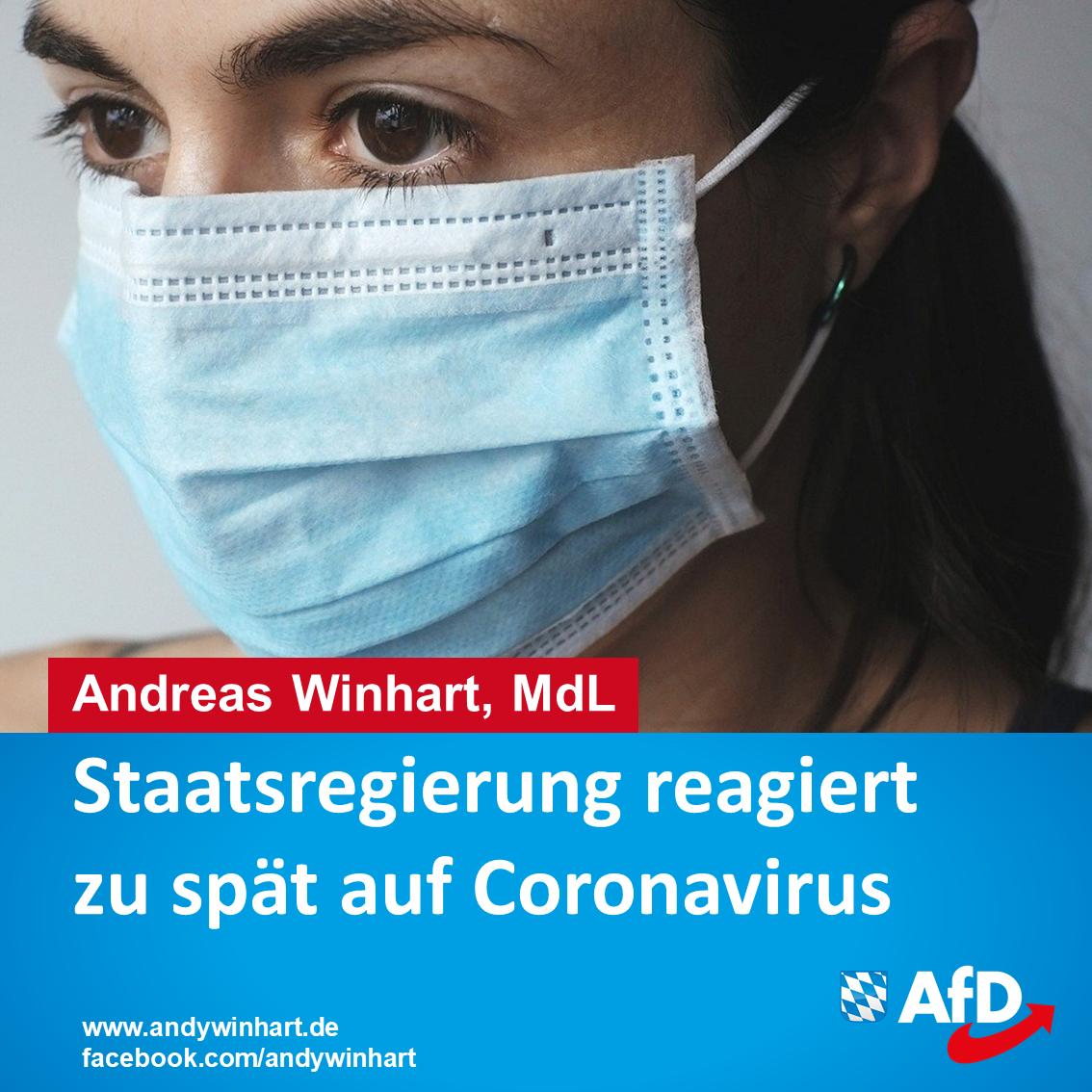 Staatsregierung reagiert zu spät auf Coronavirus