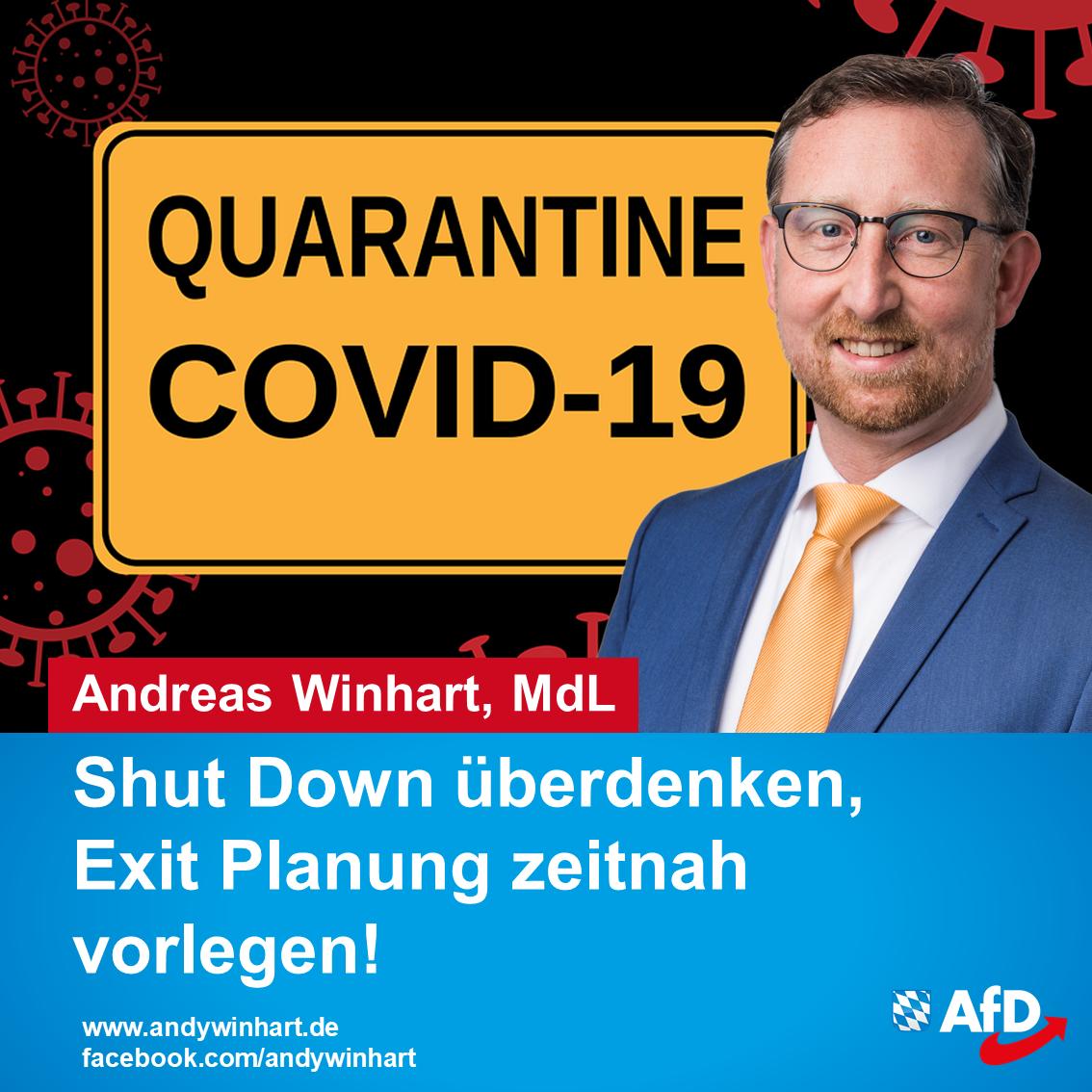 Shut Down überdenken – Exit Planung zeitnah vorlegen!