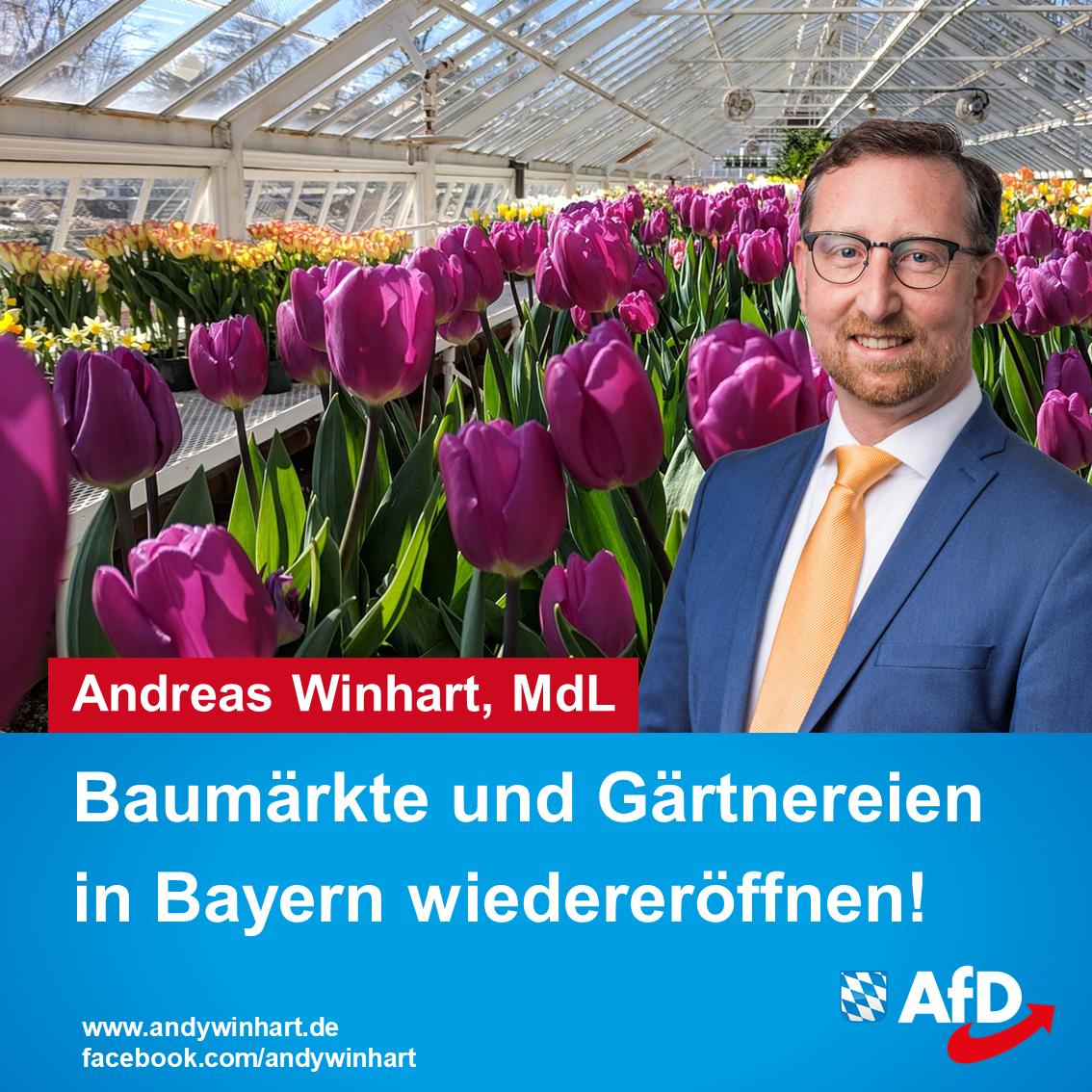 Baumärkte und Gärtnereien in Bayern wiedereröffnen