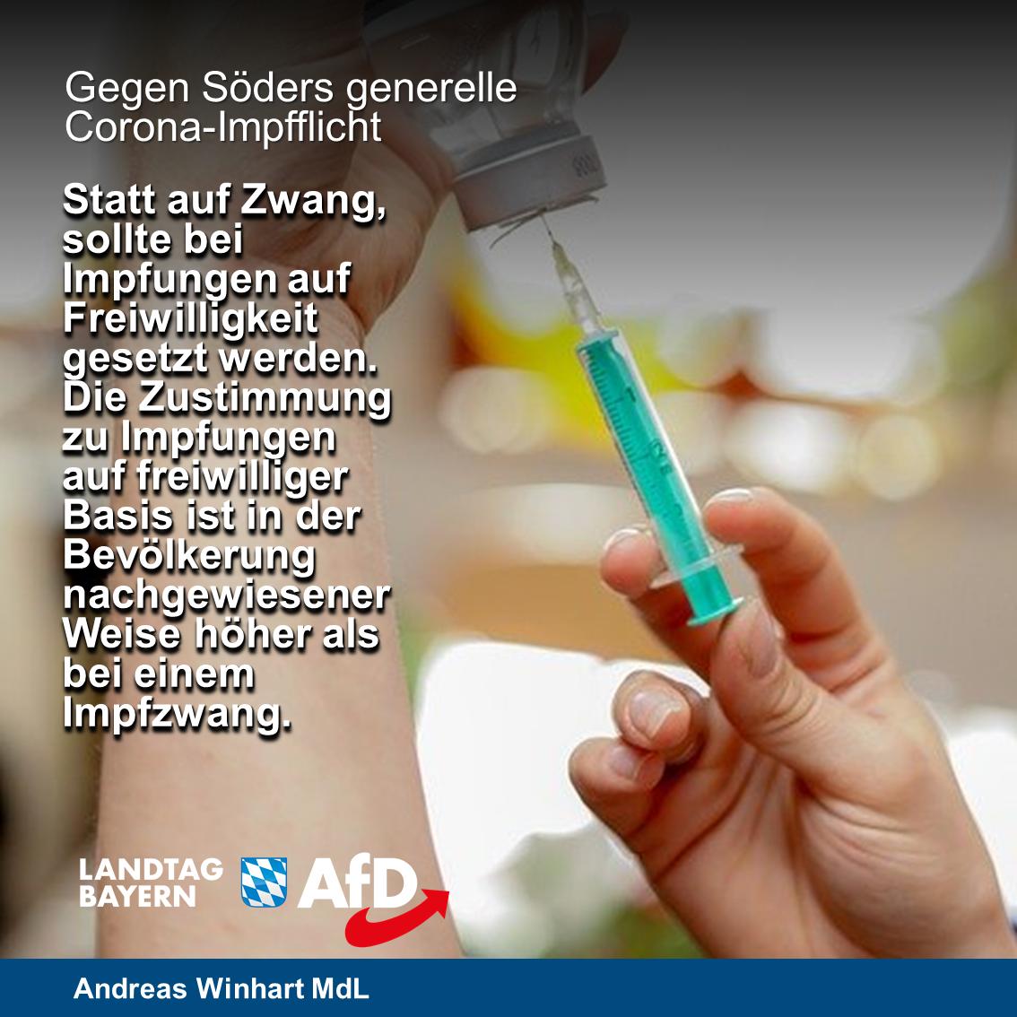 Söders generelle Impfpflicht verhindern