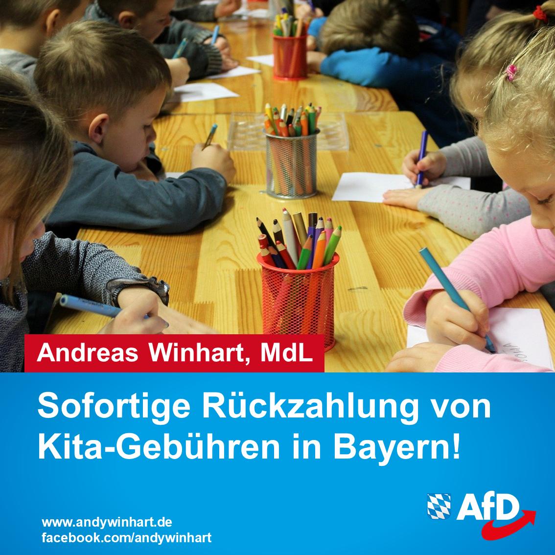 Sofortige Rückzahlung von Kita- und Kindergartengebühren in Bayern