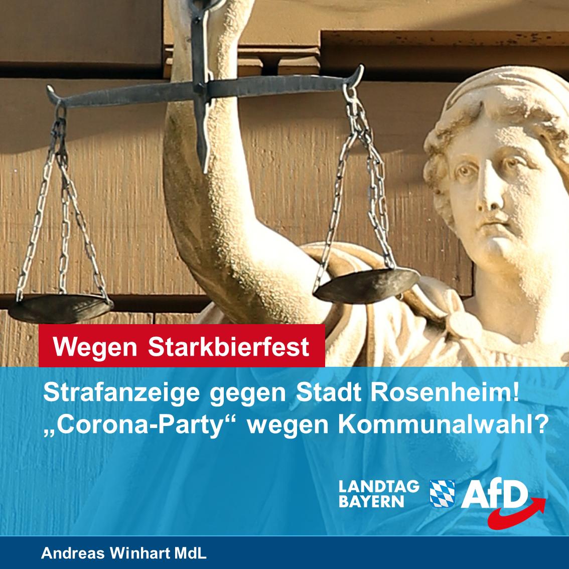 Starkbierfest ja, Herbstfest nein? – Anzeige gegen die Stadt Rosenheim