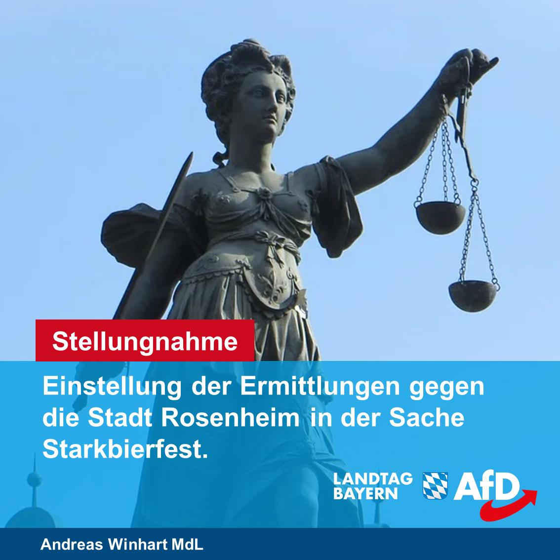 Stellungnahme zur Einstellung der Ermittlungen gegen die Stadt Rosenheim