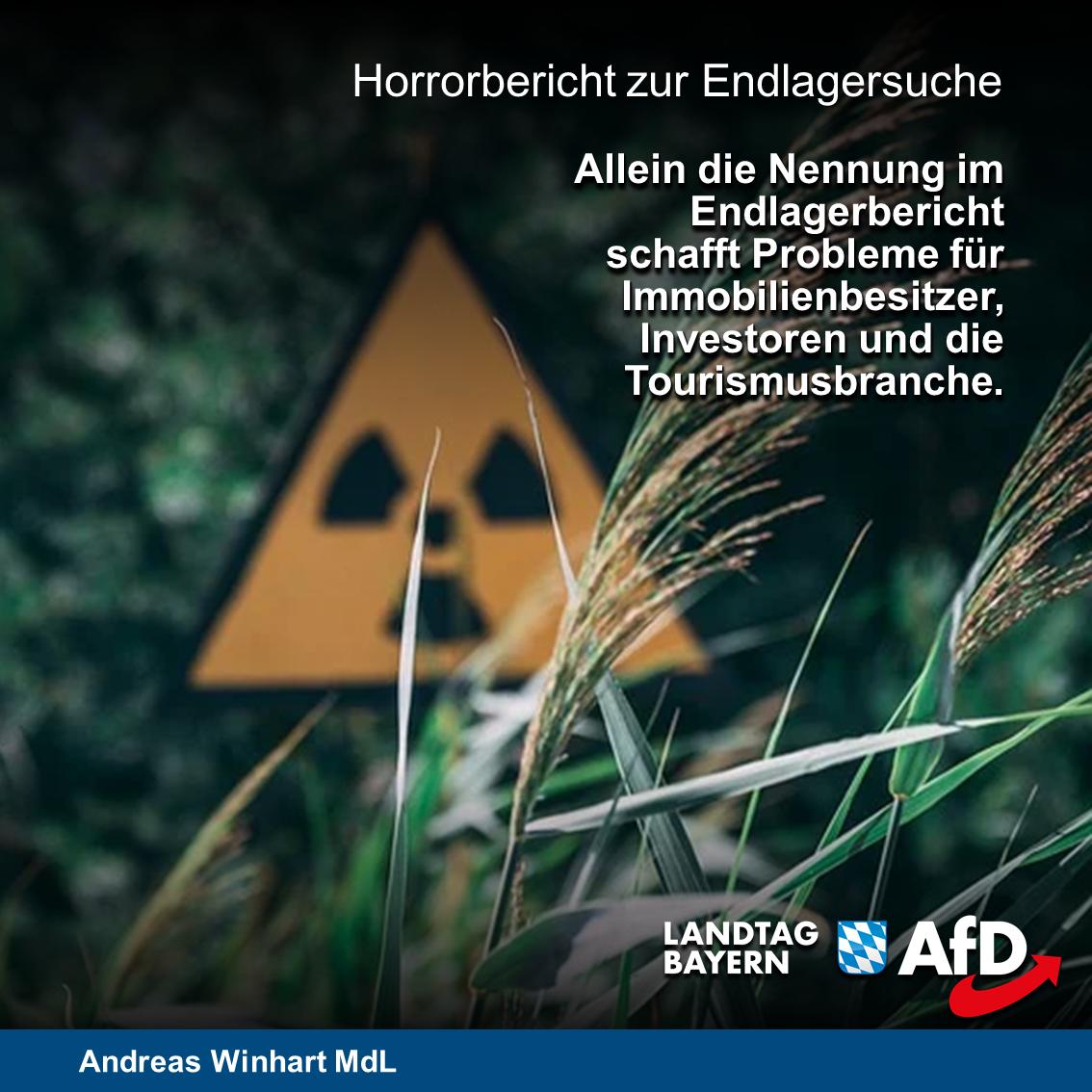 AfD-Presseservice:  Atommüllendlager in Süd-Ost-Oberbayern konsequent verhindern