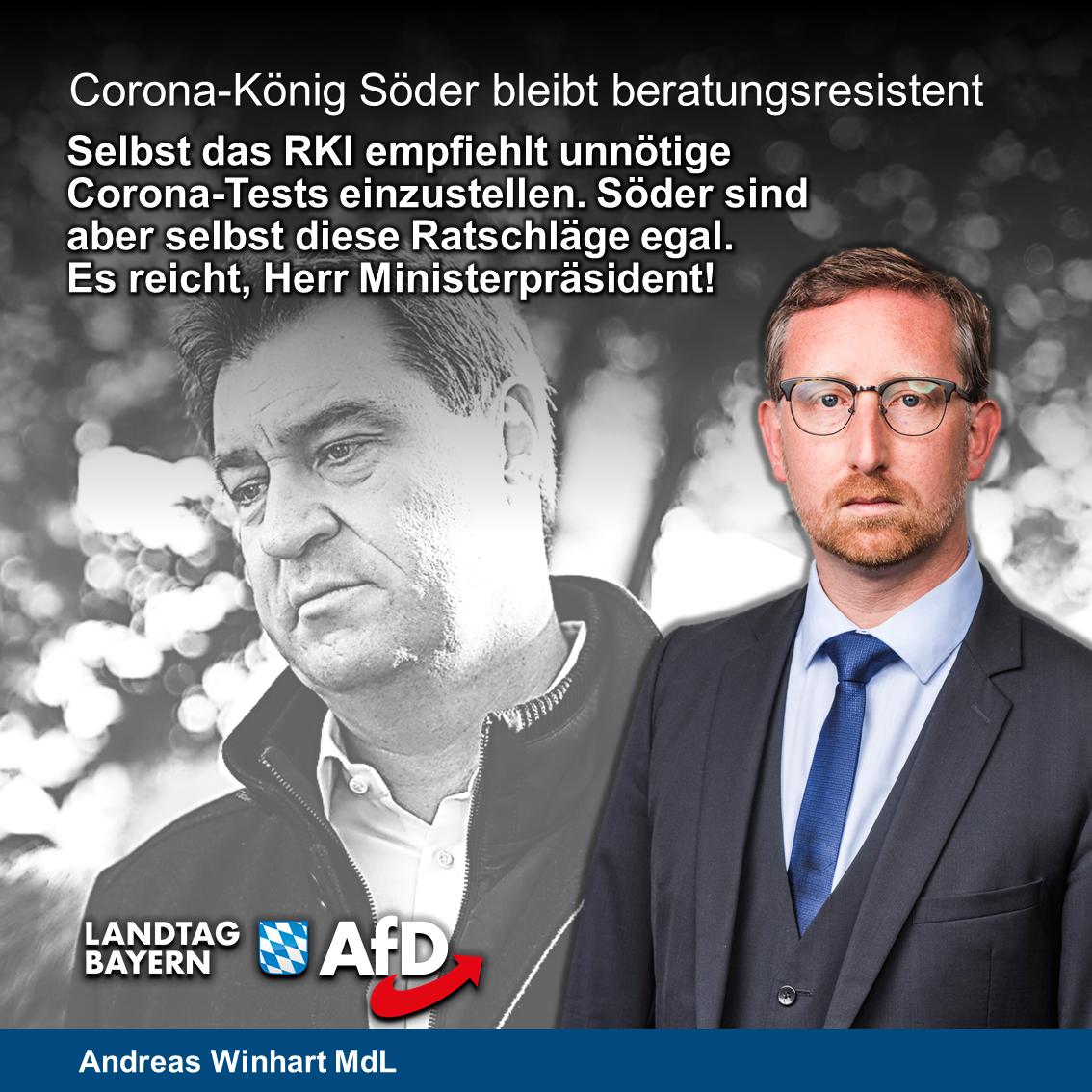Söder bleibt beratungsresistent: Teststrategie wird gegen Expertenrat fortgeführt