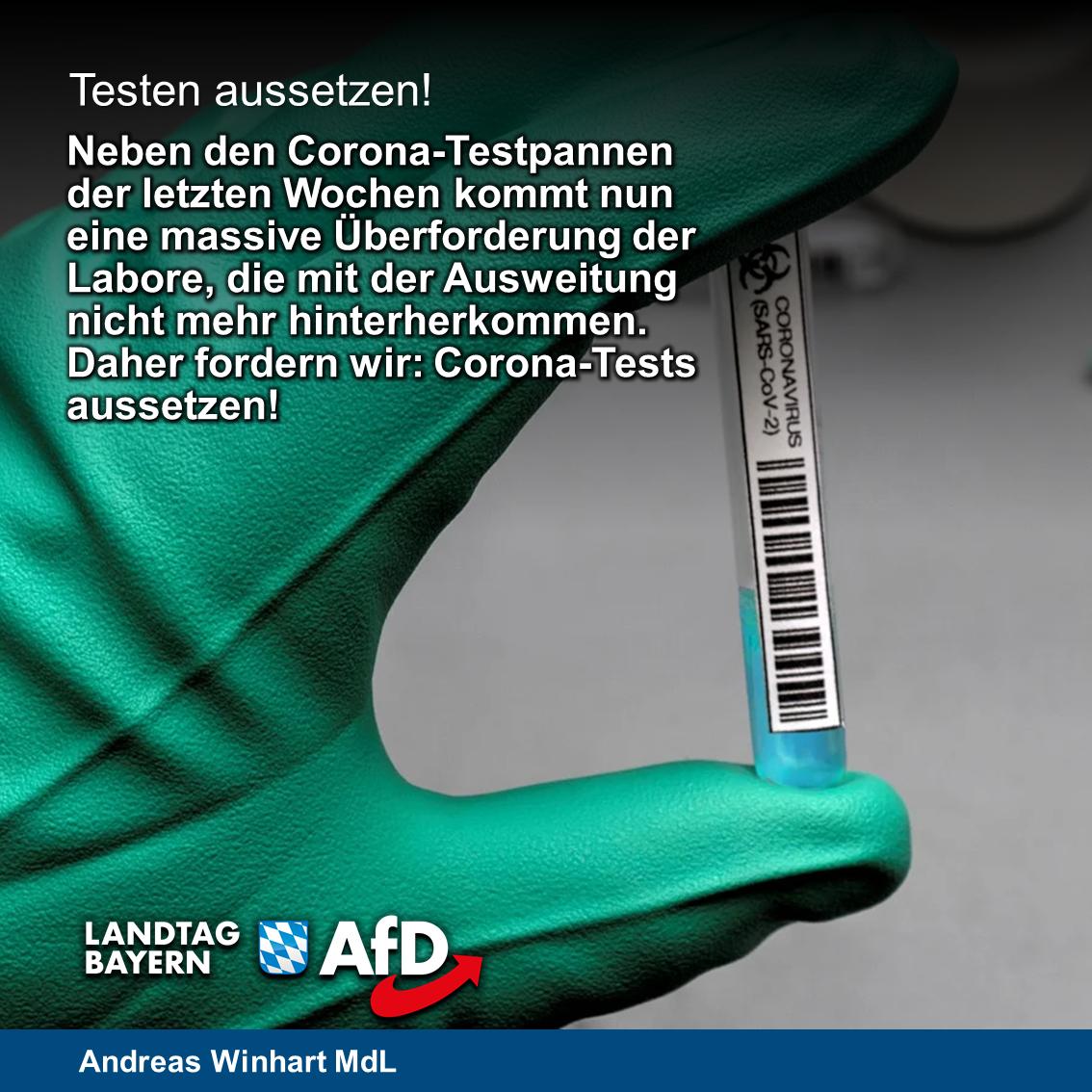 Überlastete Labore und irreführende PCR-Tests – AfD fordert gezielte Testungen